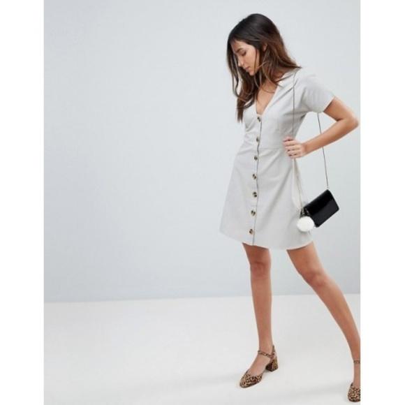 d0516b8cf5 ASOS Dresses   Skirts - Button Through Mini Casual Skater Dress